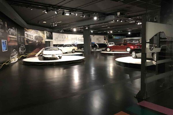 Museo-automobile-Torino-allestimento-interno-panoramica